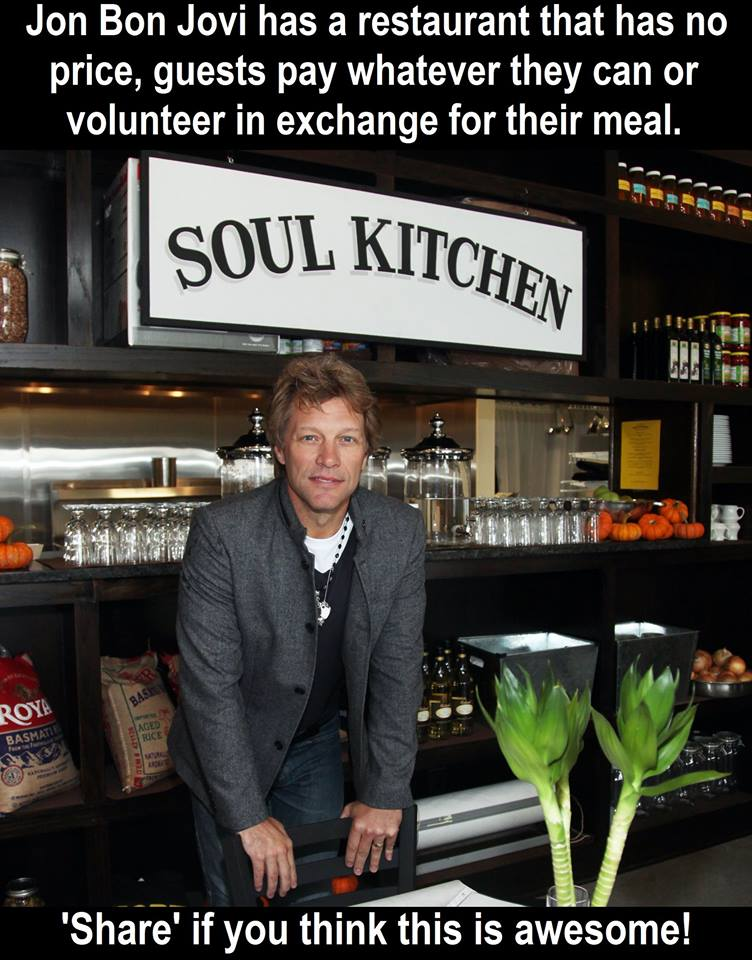 What an amazing way to Pay It Forward. Thank you for showing so much compassion Jon Bon Jovi!    ...