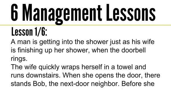 6 Management Lessons That Everyone Should Know. #2 Is Priceless.
