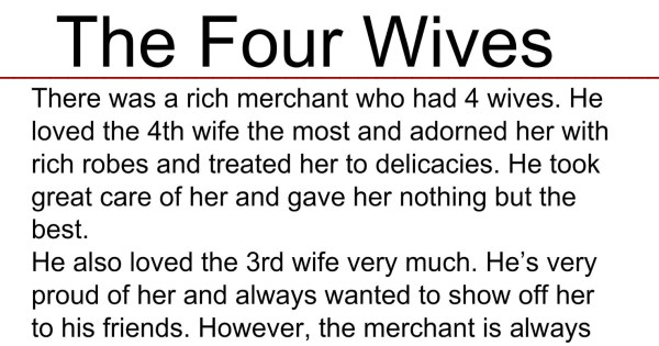 The 4 Wives : An Inspirational Story
