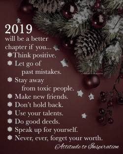 <3 2019 will be a better chapter if you …