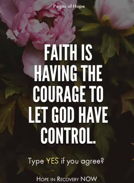 Faith…