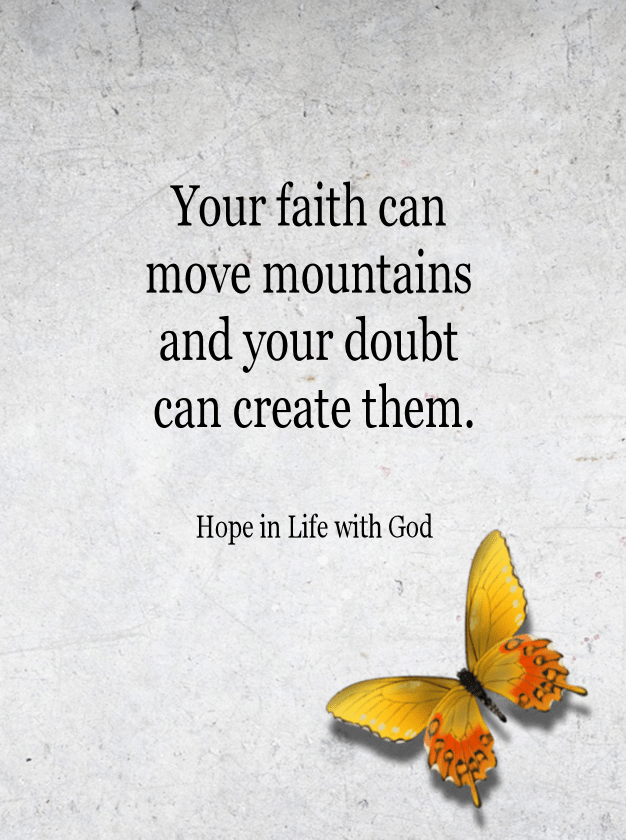 Just as the 'Mustard Seed' moved those mountains so can we all~~Amen!