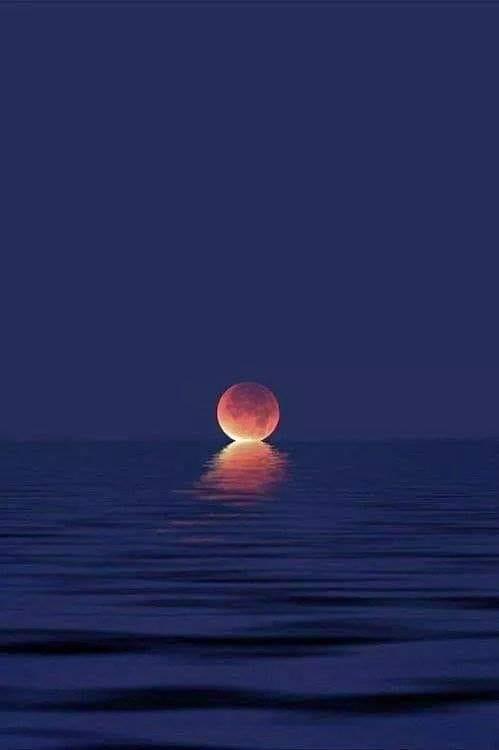 When the moon kisses the ocean.