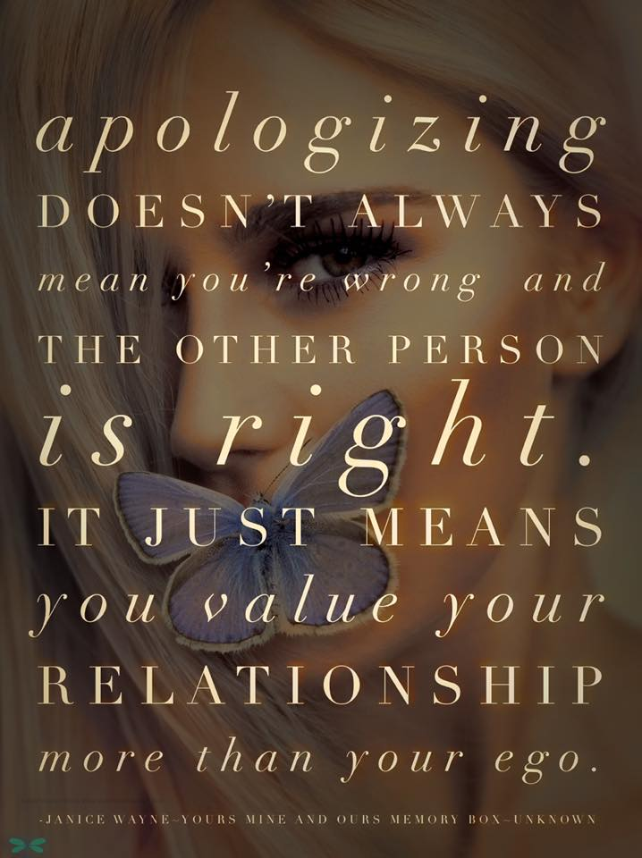 Apologizing doesn't always mean…