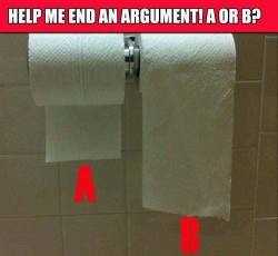 Help me end an argument! A or B
