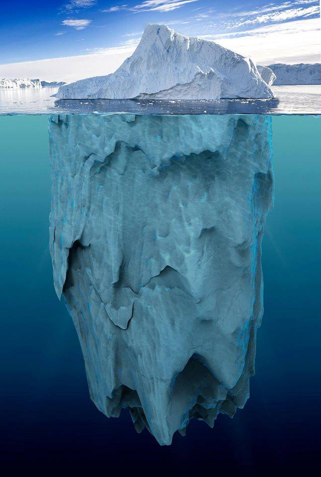 Iceberg with water view.