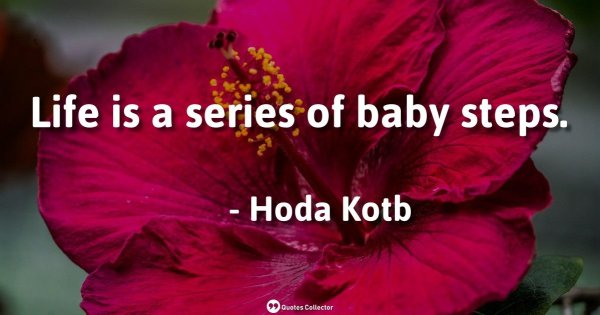 Life is a series of baby steps. – Hoda Kotb