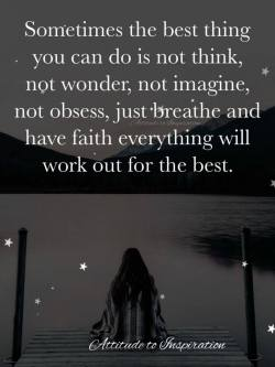 Sometimes the best thing you can do …