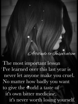 The most important lesson I've learned over this last year …
