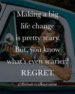 <3 Making a big life change is pretty scary …