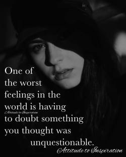 <3 One of the worst feelings in the world …