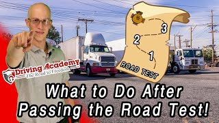 What to Do After Passing Your CDL Road Test – Driving Academy