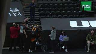 Refs Had to Stop a Fan From Getting the Ball – Hawks vs Jazz | January 15, 2021