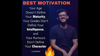 CARRYMINATI TRUE AND GOLDEN WORDS🔥BEST MOTIVATION EVER🔥SUCCESS STORY🔥INSPIRATION🔥BESTLINE🔥CHALO BETA