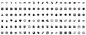 free black & white toolbar icon set – Truelogic Blog