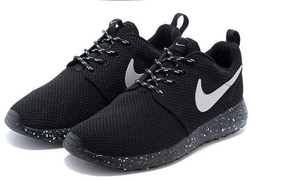 huge selection of d8f89 8d0bc ... low price nike roshe run black with white speckle oreo 12a35 8d3a8