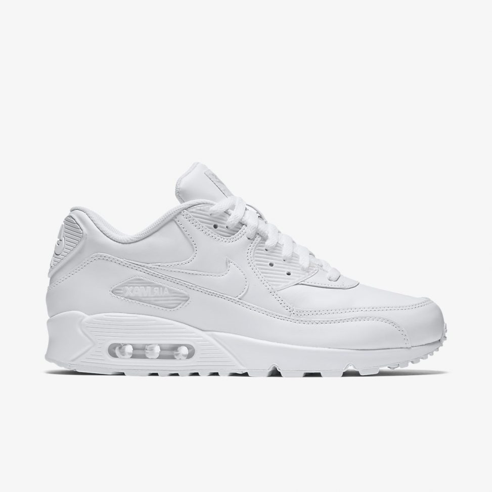 Nike Air Max 90 Essential All Leather Triple White True Looks