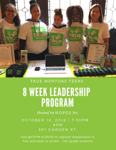 Teen Leadership Program @ HOPES Inc | Hoboken | New Jersey | United States