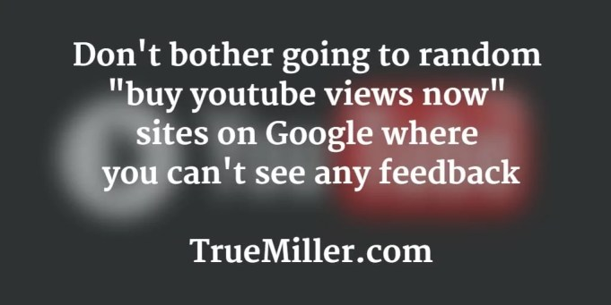 Buy YouTube Views TrueMiller