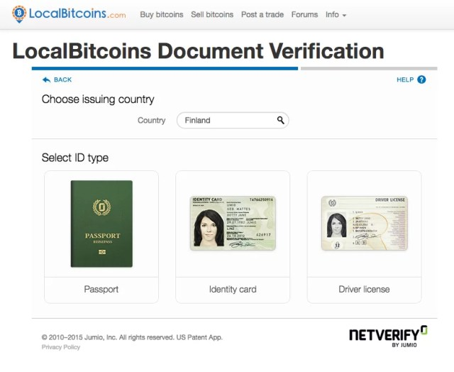 localbitcoins verification of identity