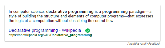 what is a declarative programming language