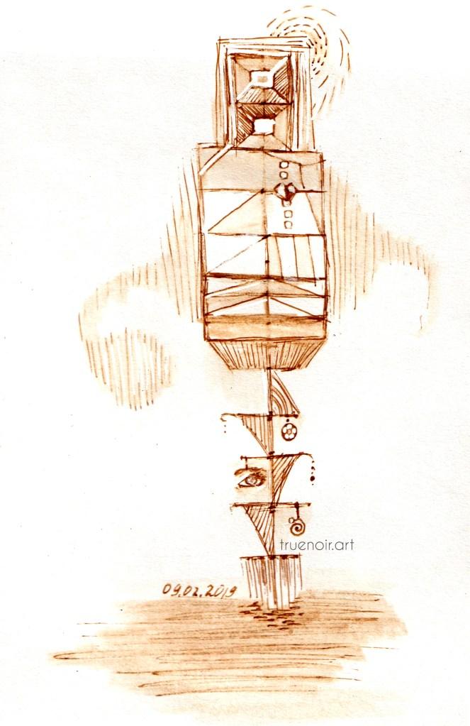 .003 Robo doodle, pen on paper
