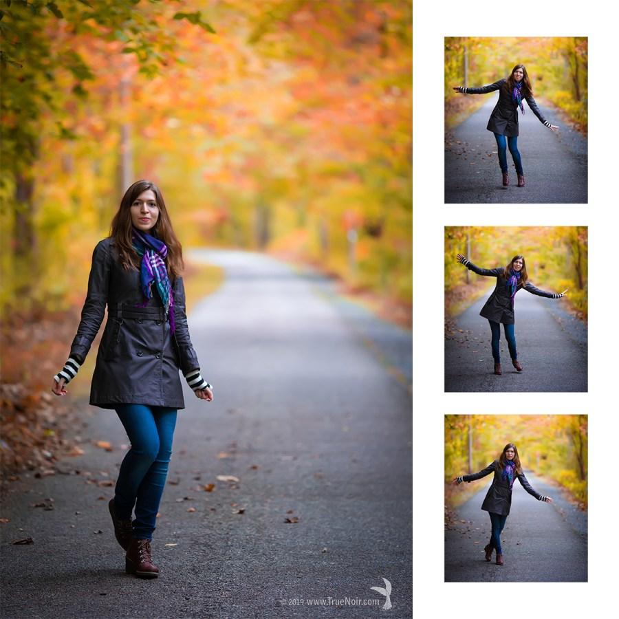 Oksana Ossipov, fall portrait collage