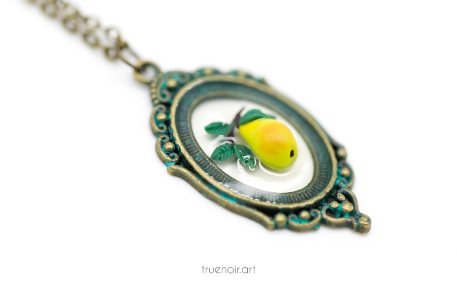 Pear Branch Necklace, original jewelry