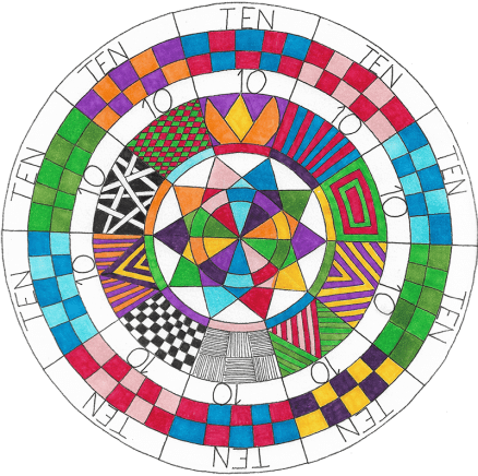 Years ago, if someone were to ask me if I was an artist, I would have laughed. One year ago, If someone would have asked me if I could draw a mandala, I would have laughed again. But here again one year later I am making my own mandalas. This is the inspiration Kathryn (and the rest of the Sharing Circle) have given me. Steve Kozak, Ohio, USA