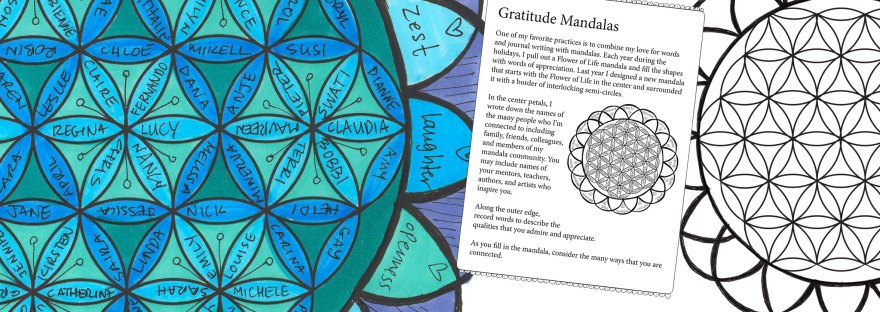 Flower of Life Gratitude Mandala