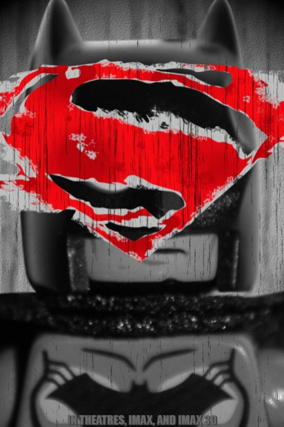 Batman V Superman poster LEGO-Fied