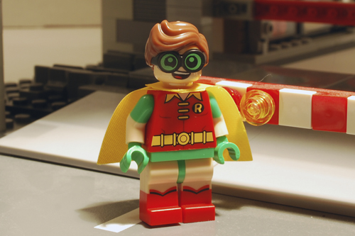 LEGO Robin front view.