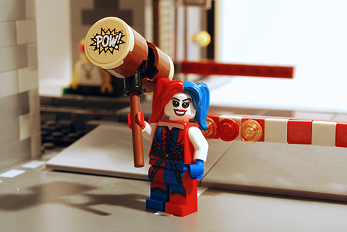 LEGO Harley Quinn, front view.