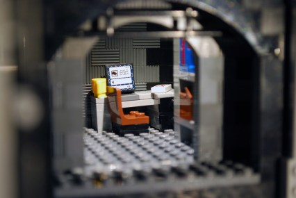 MOC LEGO Store computer terminal.