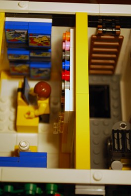 Overhead view of MOC LEGO Store shop level.