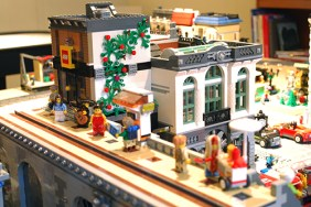 MOC LEGO Store and tram stop.