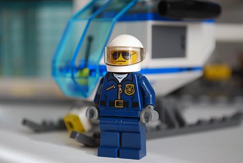 LEGO 60047 - Pilot front view