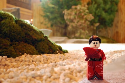 LEGO Geisha attending Japan Week at Grand Central Terminal.