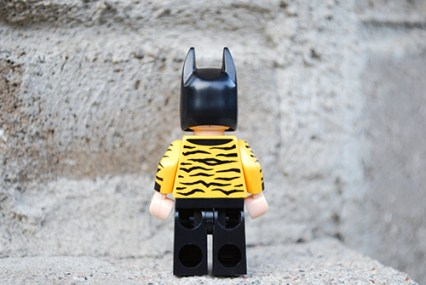 LEGO tiger suit Batman rear view