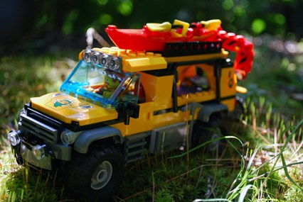 LEGO jungle exploration truck