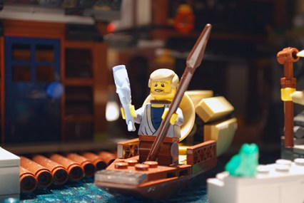 LEGO Ninjago City fishing boat.