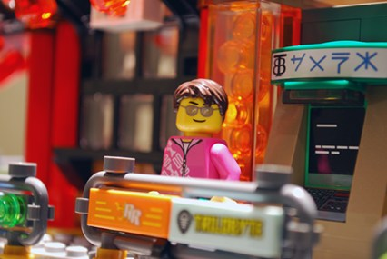 The working ATM in LEGO Ninjago City.