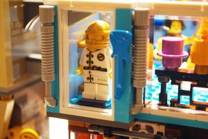 LEGO Ninjago City apparel shop display.