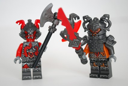 LEGO Dragon's Forge (70627) Vermillion warriors - front view.