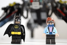Alternate faces of Batman and Dick Grayson from the LEGO Scuttler set.