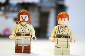 LEGO Qui-Gonn and Obi-Wan alternate faces.