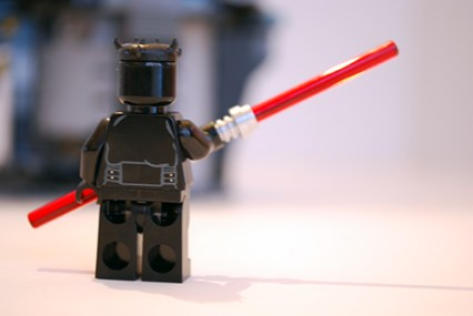 LEGO Darth Maul rear view.