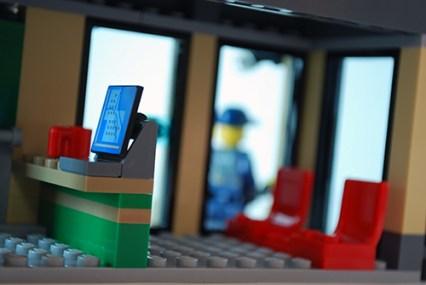 LEGO Bulldozer Break-in bank ground floor.