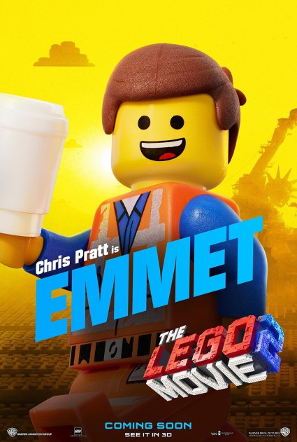 Official LEGO® Movie 2 Emmet poster.