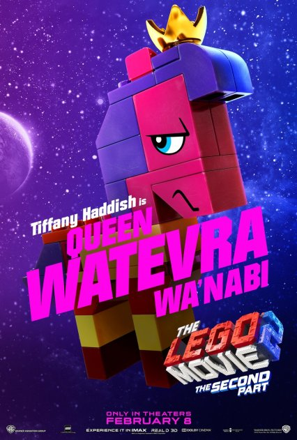 Official LEGO® Movie 2 Queen Watevra Wa'Nabi poster